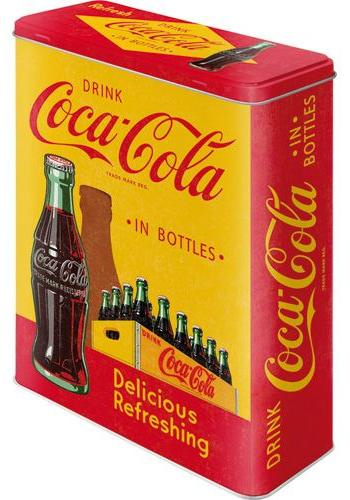 Coca Cola in Bottles Yellow  Bewaarblik