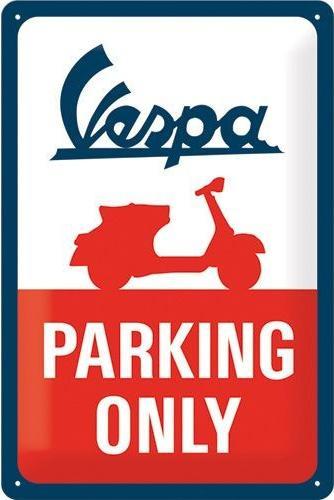 Vespa Parking Only Metalen wandbord in reliëf 20 x 30 cm.
