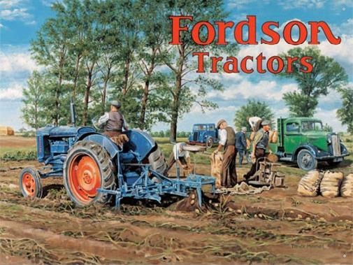 Fordson Tractors Metalen wandbord 40 x 30 cm