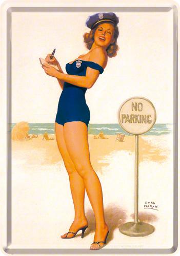 No Parking Metalen Postcard 10 x 14 cm.