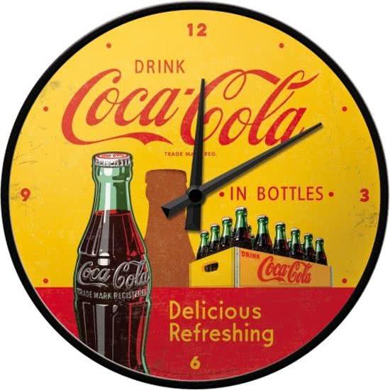 Coca Cola In Bottles  Wandklok 31 cm