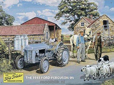 Ford-Ferguson  9N Metalen wandbord40 x 30 cm