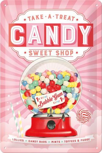 Sweet Candy Shop Metalen wandbord 20 x 30 cm