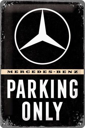 Mercedes - Benz Parking Only Metalen wandbord in reliëf 20 x 30 cm.