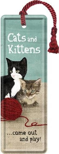 Cats and Kittens - Come out and play  Metalen boekenlegger 15 x 5 cm