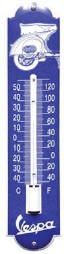 Vespa achterkant Thermometer 6,5 x 30 cm.