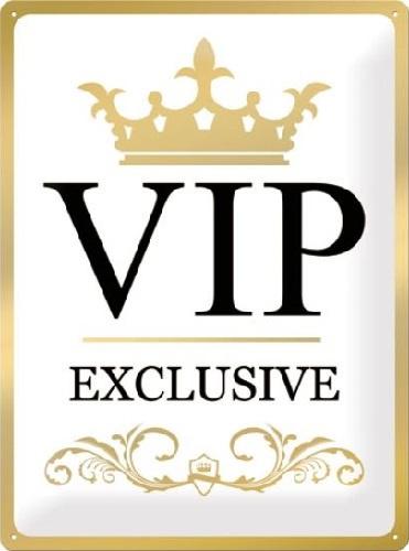 VIP Exclusive Metalen wandbord in reliëf 30 x 40 cm .