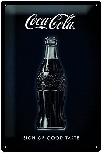 Coca-Cola-Sign Of Good Taste Black Metalen wandbord  in reliëf 20x30 cm