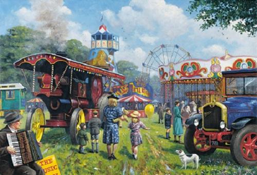 Steam Fair.  Metalen wandbord 30 x 40 cm.