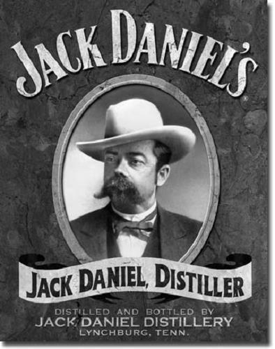 Jack Daniel's Distiller Portrait   Metalen wandbord 31,5 x 40,5 cm.