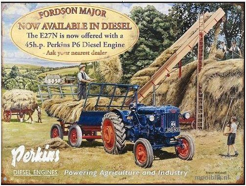 Fordson Major E27N  Metalen wandbord 40 x 30 cm