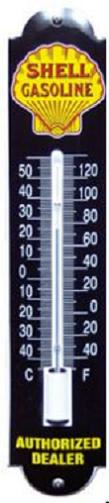Shell Thermometer 6,5 x 30 cm.