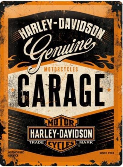 Harley-Davidson - Garage Metalen wandbord in reliëf 15x20 cm