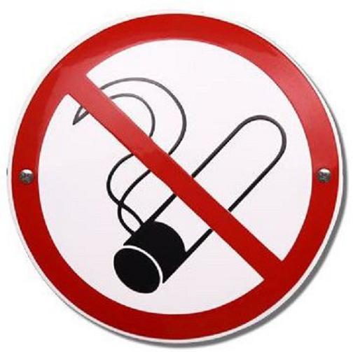 Verboden te roken Emaille bordje ⌀ 10 cm.