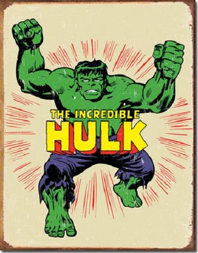 The Incredible Hulk. Metalen wandbord 31,5 x 40,5 cm.