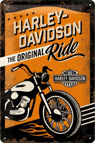 Harley-Davidson - The Original Ride Metalen wandbord in reliëf 20x30 cm