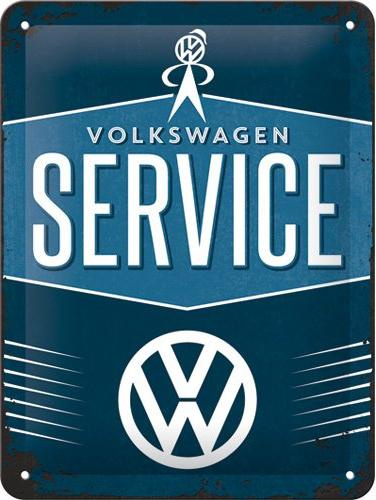 VW Service Metalen wandbordin reliëf15x20 cm