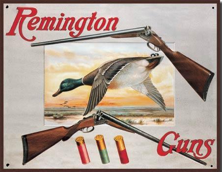 Remington Guns Metalen wandbord 31,5 x 40,5 cm.