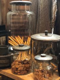 Voorraadpot met houten deksel Small