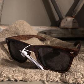 Zonnebril heren hout donker