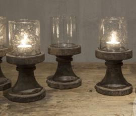 Sfeerlichtje op houten voet