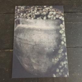 kaart kruik met dadeltak 21 x 15 cm