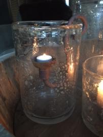 Cup metaal of roest voor waxinelicht of kaars PUUR wonen
