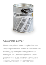 Carte colori universele primer wit 0,75 liter