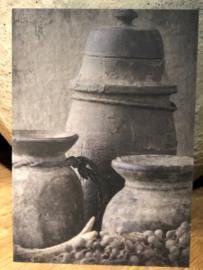 Sobere Kaart grijze potten nepalese