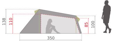 Mckinley opblaasbare tent Airgo 3, met Air n Go techniek