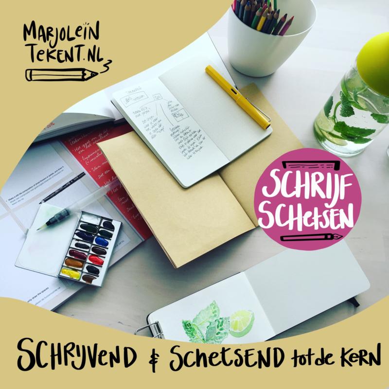 SchrijfSchets workshop (online) op 11 nov 2020