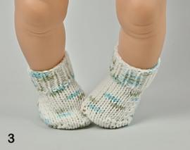 Gebreide poppensokjes voor o.a. Baby Born
