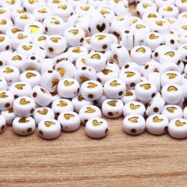 Love Heart Beads Gold (100 stuks)