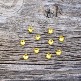 Swarovski steentjes geel 10 stuks