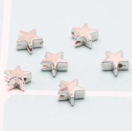 Star Beads Silver/ 200 stuks