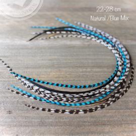 Feathers 22-28 cm pakket 10 stuks