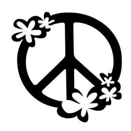 79 Peace with flowers sjabloon