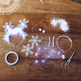 DIY pakket Snowflake Diadeems ( set 10 stuks )