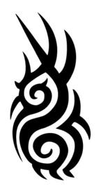 #60900 Tribal 4 sjabloon
