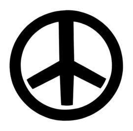 #551000 Peace sjabloon