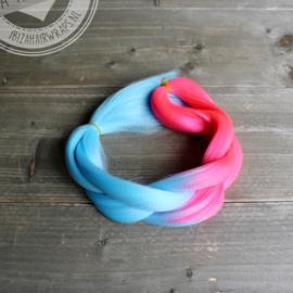 Vlecht Mermaid Pink/Blue