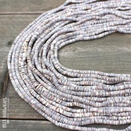 Shell Beads  Light/  Brown Mix