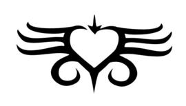 #34900 Heart Navel sjabloon