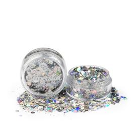 Chunky Glitter Laser Silver