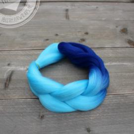 Vlecht Ombre Dark Blue/ Light Blue