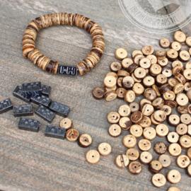Coconut Beads Hawai  8mm 100 gram