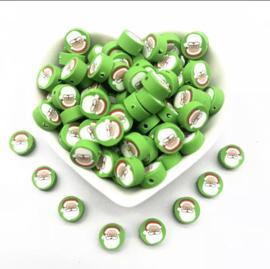Polymer Clay Beads Santa (30 stuks)