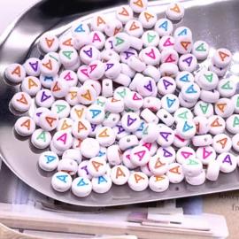 Alphabet Beads - Letters los A t/m L  ( 100 stuks )
