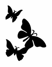 #17300 3 Butterflies sjabloon