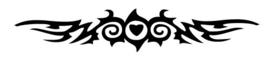 #64500 Tribal Wings sjabloon